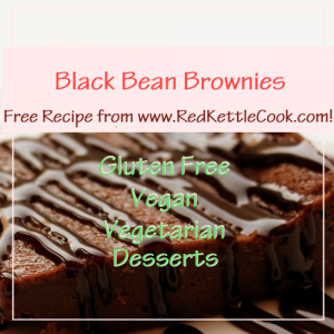 Black Bean Brownies Free Recipe from RedKettleCook.com!