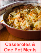 Casseroles and One Pot Meals Free Recipes from RedKettleCook.com!