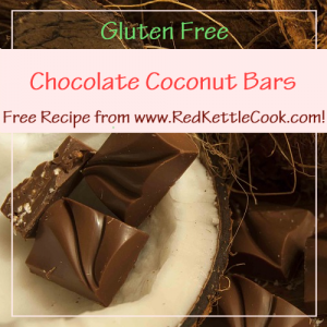 Chocolate Coconut Bars Free Recipe from RedKettleCook.com!