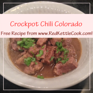 Crockpot Chili Colorado Free Recipe from RedKettleCook.com!