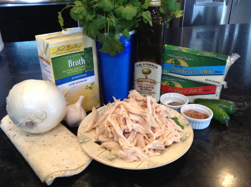 Easy Chicken Quesadillas Ingredients - Free Recipe from RedKettleCook.com!