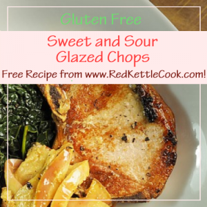 Sweet and Sour Glazed Chops Free Recipe from RedKettleCook.com!