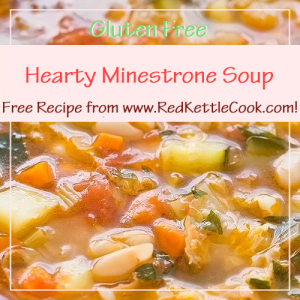 Hearty Minestrone Soup Free Recipe from RedKettleCook.com!