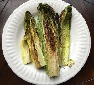 """Oven Grilled Romaine for the """"Oven 'Grilled' Romaine with Roasted Chicken Salad"""" Free Recipe from RedKettleCook.com!"""
