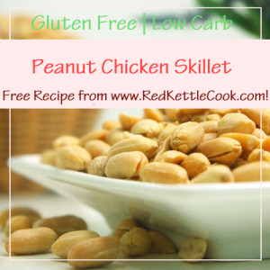 Peanut Chicken Skillet Free Recipe from RedKettleCook.com!