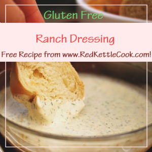 Ranch Dressing Free Recipe Free Recipe from RedKettleCook.com!