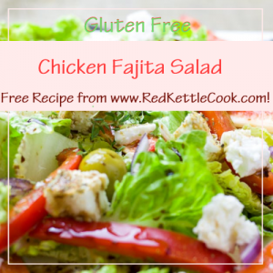 Chicken Fajita Salad Free Recipe from RedKettleCook.com!