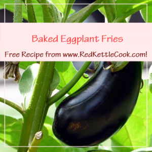Baked Eggplant Fries Free Recipe from www.RedKettleCook.com!