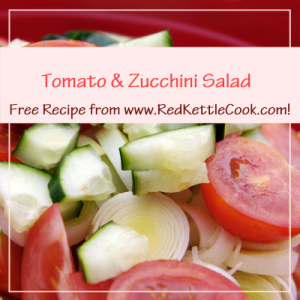 Tomato & Zucchini Salad Free Recipe from www.RedKettleCook.com!