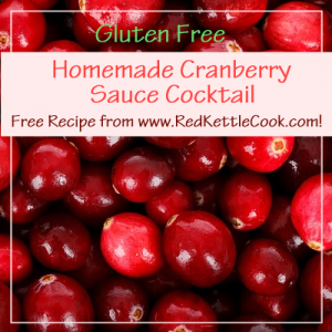 Homemade Cranberry Cocktail Sauce Free Recipe from www.RedKettleCook.com!