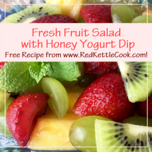 Fresh Fruit Salad with Honey Yogurt Dip Free Recipe from www.RedKettleCook.com!