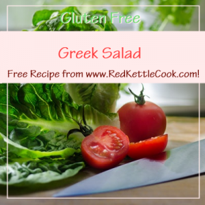 Greek Salad Free Recipe from www.RedKettleCook.com!
