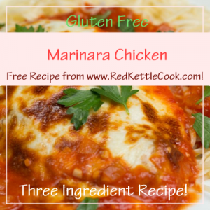 Marinara Chicken Free Recipe from www.RedKettleCook.com!