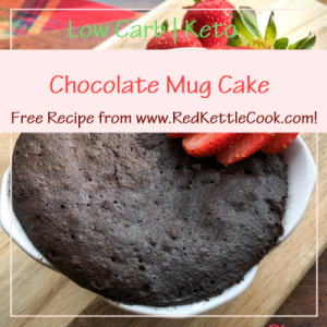 Chocolate Mug Cake Free Recipe from RedKettleCook.com!
