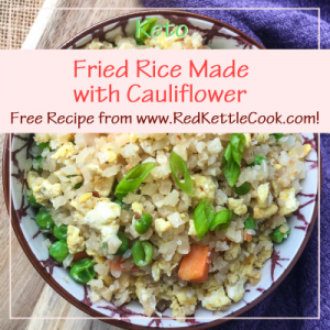 Fried Rice made with Cauliflower Free Recipe from RedKettleCook.com!