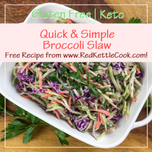 Quick & Simple Broccoli Slaw Free Recipe from RedKettleCook.com!
