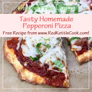 Tasty Homemade Pepperoni Pizza Free Recipe from RedKettleCook.com!