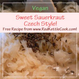 Sweet Sauerkraut - Czech Style! Free Recipe from RedKettleCook.com!