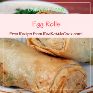 Egg Rolls Free Recipe from RedKettleCook.com!