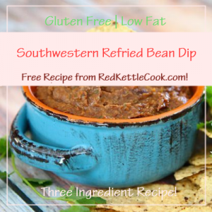 Southwestern Refried Bean Dip Free Recipe from RedKettleCook.com!