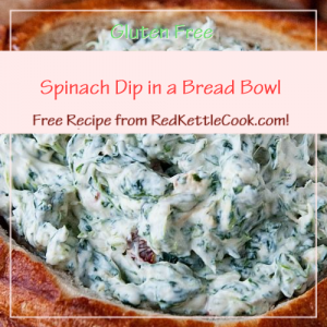 Spinach Dip in a Bread Bowl Free Recipe from RedKettleCook.com!