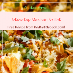 Stovetop Mexican Skillet Free Recipe from RedKettleCook.com!