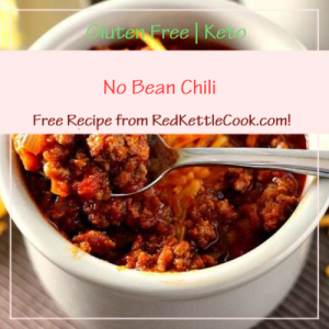 No Bean Chili Free Recipe from RedKettleCook.com!