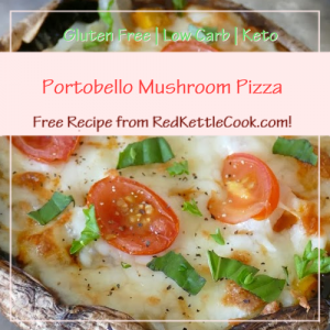 Portobello Mushroom Pizza a Free Recipe from RedKettleCook.com!