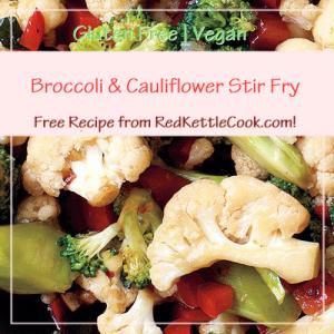 Broccoli & Cauliflower Stir Fry a Free Recipe from RedKettleCook.com!