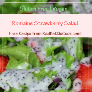 Romaine Strawberry Salad a Free Recipe from RedKettleCook.com!